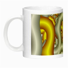 Fractal Background With Golden And Silver Pipes Night Luminous Mugs