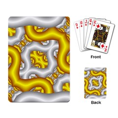 Fractal Background With Golden And Silver Pipes Playing Card