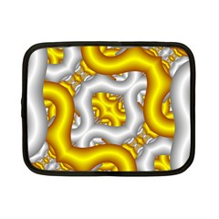 Fractal Background With Golden And Silver Pipes Netbook Case (small)