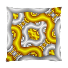 Fractal Background With Golden And Silver Pipes Standard Cushion Case (two Sides)