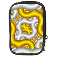 Fractal Background With Golden And Silver Pipes Compact Camera Cases