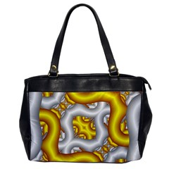 Fractal Background With Golden And Silver Pipes Office Handbags