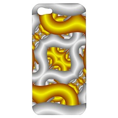 Fractal Background With Golden And Silver Pipes Apple iPhone 5 Hardshell Case