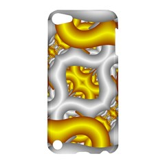 Fractal Background With Golden And Silver Pipes Apple Ipod Touch 5 Hardshell Case