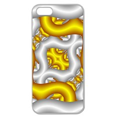 Fractal Background With Golden And Silver Pipes Apple Seamless Iphone 5 Case (clear)