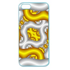 Fractal Background With Golden And Silver Pipes Apple Seamless Iphone 5 Case (color)
