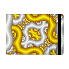Fractal Background With Golden And Silver Pipes Apple iPad Mini Flip Case