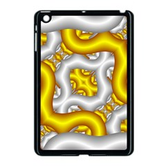Fractal Background With Golden And Silver Pipes Apple Ipad Mini Case (black)
