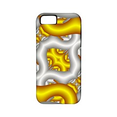 Fractal Background With Golden And Silver Pipes Apple Iphone 5 Classic Hardshell Case (pc+silicone)
