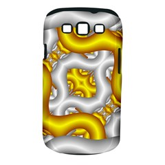 Fractal Background With Golden And Silver Pipes Samsung Galaxy S Iii Classic Hardshell Case (pc+silicone)