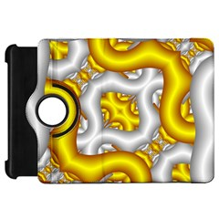 Fractal Background With Golden And Silver Pipes Kindle Fire HD 7