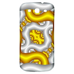 Fractal Background With Golden And Silver Pipes Samsung Galaxy S3 S Iii Classic Hardshell Back Case