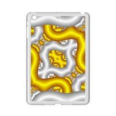 Fractal Background With Golden And Silver Pipes Ipad Mini 2 Enamel Coated Cases
