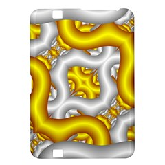 Fractal Background With Golden And Silver Pipes Kindle Fire Hd 8 9
