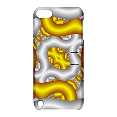 Fractal Background With Golden And Silver Pipes Apple Ipod Touch 5 Hardshell Case With Stand