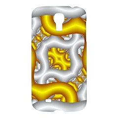 Fractal Background With Golden And Silver Pipes Samsung Galaxy S4 I9500/i9505 Hardshell Case