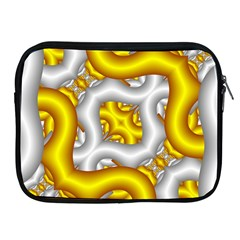 Fractal Background With Golden And Silver Pipes Apple Ipad 2/3/4 Zipper Cases