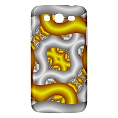 Fractal Background With Golden And Silver Pipes Samsung Galaxy Mega 5.8 I9152 Hardshell Case