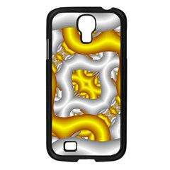 Fractal Background With Golden And Silver Pipes Samsung Galaxy S4 I9500/ I9505 Case (black)
