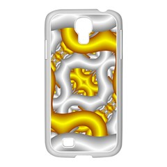Fractal Background With Golden And Silver Pipes Samsung Galaxy S4 I9500/ I9505 Case (white)