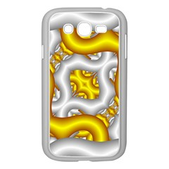 Fractal Background With Golden And Silver Pipes Samsung Galaxy Grand Duos I9082 Case (white)