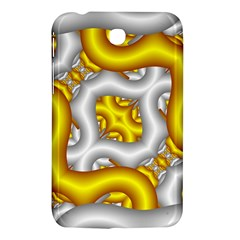 Fractal Background With Golden And Silver Pipes Samsung Galaxy Tab 3 (7 ) P3200 Hardshell Case