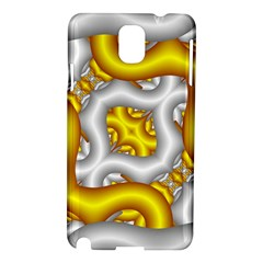Fractal Background With Golden And Silver Pipes Samsung Galaxy Note 3 N9005 Hardshell Case