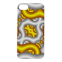 Fractal Background With Golden And Silver Pipes Apple Iphone 5s/ Se Hardshell Case