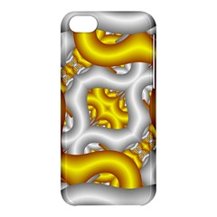 Fractal Background With Golden And Silver Pipes Apple Iphone 5c Hardshell Case