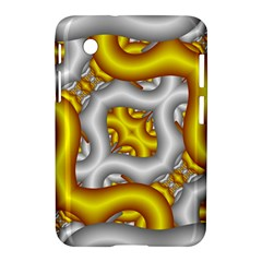 Fractal Background With Golden And Silver Pipes Samsung Galaxy Tab 2 (7 ) P3100 Hardshell Case