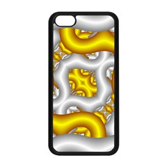 Fractal Background With Golden And Silver Pipes Apple Iphone 5c Seamless Case (black)
