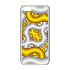 Fractal Background With Golden And Silver Pipes Apple iPhone 5C Seamless Case (White)