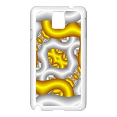 Fractal Background With Golden And Silver Pipes Samsung Galaxy Note 3 N9005 Case (White)