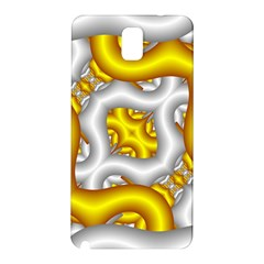 Fractal Background With Golden And Silver Pipes Samsung Galaxy Note 3 N9005 Hardshell Back Case