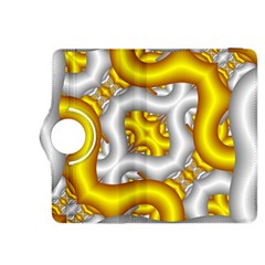 Fractal Background With Golden And Silver Pipes Kindle Fire Hdx 8 9  Flip 360 Case