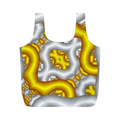 Fractal Background With Golden And Silver Pipes Full Print Recycle Bags (m)