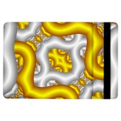 Fractal Background With Golden And Silver Pipes Ipad Air Flip