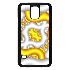 Fractal Background With Golden And Silver Pipes Samsung Galaxy S5 Case (black)