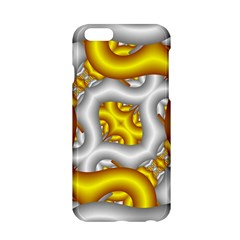Fractal Background With Golden And Silver Pipes Apple Iphone 6/6s Hardshell Case
