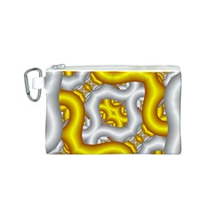 Fractal Background With Golden And Silver Pipes Canvas Cosmetic Bag (s)