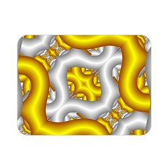Fractal Background With Golden And Silver Pipes Double Sided Flano Blanket (mini)