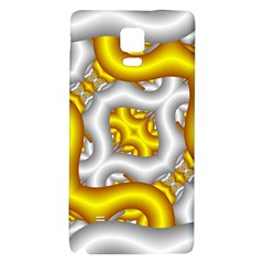 Fractal Background With Golden And Silver Pipes Galaxy Note 4 Back Case