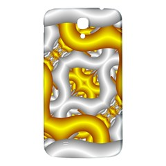 Fractal Background With Golden And Silver Pipes Samsung Galaxy Mega I9200 Hardshell Back Case