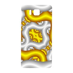 Fractal Background With Golden And Silver Pipes Samsung Galaxy Alpha Hardshell Back Case