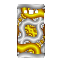 Fractal Background With Golden And Silver Pipes Samsung Galaxy A5 Hardshell Case