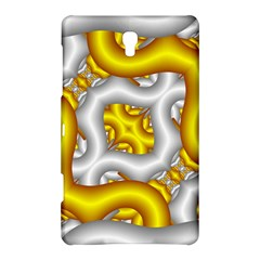 Fractal Background With Golden And Silver Pipes Samsung Galaxy Tab S (8 4 ) Hardshell Case