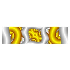 Fractal Background With Golden And Silver Pipes Satin Scarf (oblong)