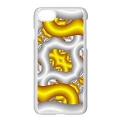 Fractal Background With Golden And Silver Pipes Apple Iphone 7 Seamless Case (white)