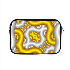 Fractal Background With Golden And Silver Pipes Apple Macbook Pro 15  Zipper Case