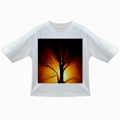 Rays Of Light Tree In Fog At Night Infant/Toddler T-Shirts